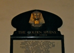 The Golden Sphinx! Oooo! Ahhhh!